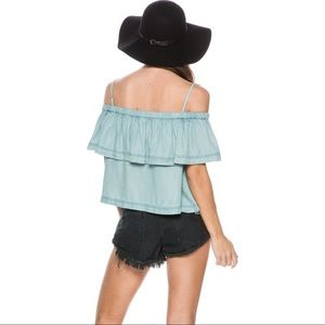 Free People Cold Shoulder Blouse